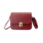New Vintage Women PU Bag Twist Lock Flap Casual Shoulder Crossbody Bag