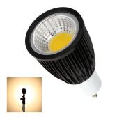 GU10 7W COB LED Spotlight Bulb Lamp Energy Saving High Brightness Warm White Black 85-265V