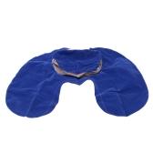 Кондиционер подушка надувная U форму шеи Blow Up подушки ПВХ стекаются поход путешествия открытый офис плоскости отель портативный складной