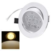 5 * 1W LED empotrado techo abajo luz lámpara proyector interior para iluminación de decoración de sala de estar casera con controlador 85-265V
