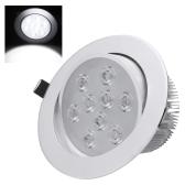 9 * 1W LED empotrado techo abajo luz lámpara proyector interior para la iluminación de decoración casa Living comedor con conductor AC85-265V