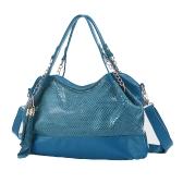 新しいファッションの女性のショルダー バッグ蛇パターン PU レザー タッセル チェーン ハンドバッグ クロスボディ バッグ トートバッグ