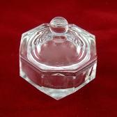 Uñas arte herramienta cristal Dappen plato taza Nail Art acrílico líquido polvo