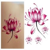 Tatuagem da etiqueta Lotus padrão temporário impermeável tatuagem papel corpo arte