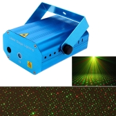 Mini LED Red & Green Laser Projector Stage Lighting Effect Patterns Voice-activated Voice-control DJ Disco Xmas Party Club Light Adjustment with Tripod AC110-240V