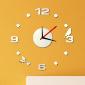 Chiffres simple mur horloge Sticker Set créatif bricolage miroir acrylique effet verre autocollant maison décoration amovible