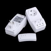 2-pack Control remoto inalámbrico potencia salida enchufe interruptor juego lámparas de electrodoméstico 120V-230V