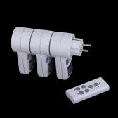 Drahtlose Fernbedienung 3er Packung Power Outlet Plug Socket Schalter Set für Lampen Hausgeräte 120V-230V