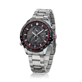 CURREN 8149 negocios hombres reloj de pulsera resistente al agua acero inoxidable cuarzo analógico calendario reloj de manera