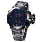 WH1008 Esportivo militar multifunções inox visor LED Digital analógico quartzo relógio 3ATM resistente masculino à água
