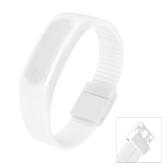 Esporte de LED relógio resistente à água na moda Digital pulseira para homens e mulheres de branco