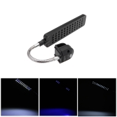 Aquarium Fish Tank Water Plant 48 LEDs 3W Clip Light Lighting Lamp Touch   Switch 3 Modes  White & Blue  Flexible