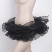 Ballet Cyber ​​Rave Tutu Tulle Mini Skirt Lingerie Party Dress