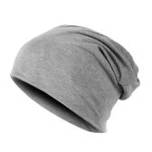Nova moda homens mulheres gorro cor sólida hip-hop desleixo Unisex malha Cap chapéu cinza claro