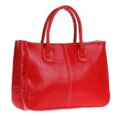 Lady bolsa PU couro (falso) Totes de bolsa de ombro moda feminina bolsa Hobo vermelho