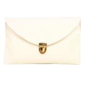 Fashion Lady Frauen Umschlag Kupplung Kette Tasche Handtasche Schulter Tote Messenger Bag Beige