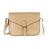 Mode Frauen Lady Handtasche Satchel Handtasche PU (Faux) Leder Casual Tote Schulter Cross Body Messenger Bag Baguette Hobo Khaki