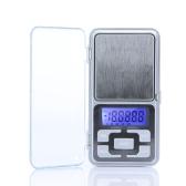 Alta precisione Mini elettronico digitale tascabile scala gioielli pesatura bilancia portatile 200g / 0.01 g conteggio funzione blu LCD g/tl/oz/ct