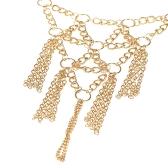 La Bohême multicouches métal doré Vintage Tassel Bracelet esclave main chaîne Dance bijoux pour femme