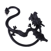 Punk Gothic Rock Metal Fly Dragon Ear Stud Vintage Retro Cuff Clip Exaggerated Personality Earring for Men and Women