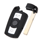 3 bouton Smart Remote Key Shell Case distance porte-clés BMW 1 3 5 6 7 E90 E93 E92 M3 M5 X 3 X 5