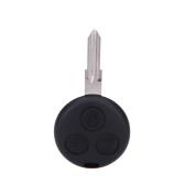 3 botón llavero remoto caso Shell para Smart Fortwo Fortour City Coupe Cabrio