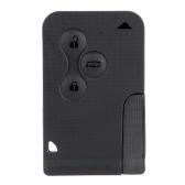 KKmoon Remote Case Uncut carte Shell Key pour Renault Megane 3 boutons + lame