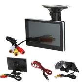"""KKmoon 4.3 """" Color TFT LCD Monitor de Visión Trasera del Coche para DVD Cámara VCR Super Fino"""