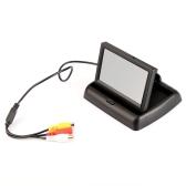 """4,3"""" dobrável cor LCD carro retrovisor reversa segurança Monitor TFT para câmera DVD VCR"""