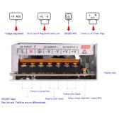 AC 110V/220V в DC 48V 3A 150W Вольтотрансформатор Переключатель питания для светодиодной ленты