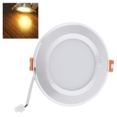 Lixada 7W Runde LED vertiefte Decken Instrumentenbeleuchtung unten Lampe Ultra Thin Hell für Wohnzimmer Badezimmer Schlafzimmer Küche AC100-240V