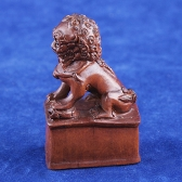 boxwood netsuke lion