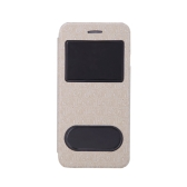 Lux Flip Leather Hard Wallet Case for Apple iPhone 6 Beige Image