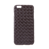 Ultrathin Lightweight Plastic Fashion Shell Case Protective Back Cover for iPhone 6 Plus Quilt Rhombus Brown