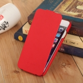 "[ Funda para iphone 6 4,7 "" ] Funda Volteada Cubierta Casco Macro moderno  para iphone 6 Genuine + cuero de la PU funda para teléfono móvil Ultrafino Cubierta volteada Protección para 4.7 ""iPhone 6 (Rojo)"