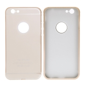 2-em-1 destacável Ultrathin Lightweight moda Bumper protetor Metal Frame Shell Case + PC tampa traseira para iPhone 6 4,7""