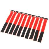 10 PC fuerte batería RC Cable antideslizante Amarre en correas 26 * 2cm rojo