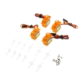 4 pezzi MR.RC High Precision Mini Gear Micro SG90 9g servo per RC Helicopter 450 Swashplate Servo