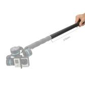 Fibra de carbono mano barra de cardán extensión barra brazo 37cm para FY-G3 Ultra portátil 3 ejes cardán