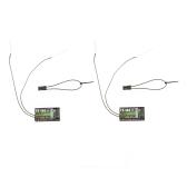2Pcs 2.4G Flysky FS-iA6 6つのチャンネル リモートコントロール レシーバー ダブルアンテナ付き  Flysky i4 i6 i10 GT2E GT2F GT2G トランスミッタに対応