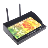 5.8GHz FPV 32CH Podwójny Odbiornik Diversity HD Ekran LCD 7W monitora RX-LCD5802