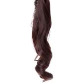 Челюсть клип длинные волнистые хвост хвост парик шиньон волосы расширение