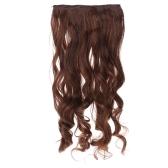 5Clips 長いビッグ ウェーブ髪濃くカール髪の拡張子を魅力的な人気のある女神のファッション