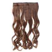 24 cm 60cm Long cheveux bouclés Extension femmes agitant des poils 5 Clips en Extensions de cheveux
