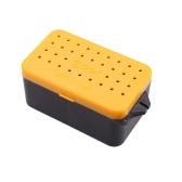10 * 6 * 4,8 cm Cool pesca cebos caja gusano gusano Señuelos almacenamiento caso pesca multifunción caja doble capa