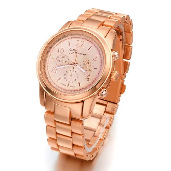 bc84b851a5c Aço Inoxidável Hot Moda Feminina Mulheres menina Unisex Quartz relógio de  pulso 4 cores castanho - Tomtop.com