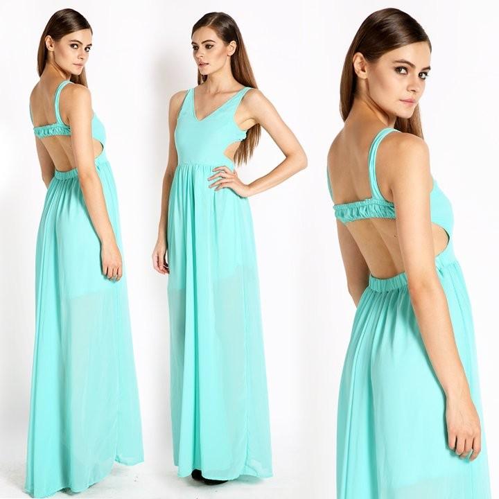 4a1184fa5 Nuevo Sexy mujer verano Boho largo Maxi noche fiesta vestido playa vestidos  Bodycon Vestido blau - Tomtop.com