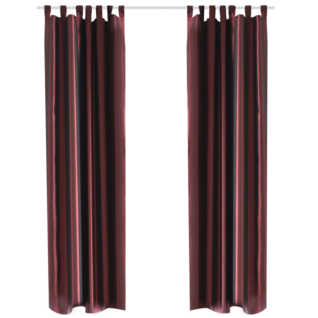 This Curtain Can Be Mounted With Ease Delivery Includes 2 Pcs Of Taffeta Curtains And Tiebacks Rods Are Not Included