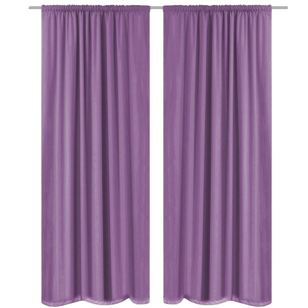 rideaux occultants 2 pi ces double couche 140 x 245 cm violet marron. Black Bedroom Furniture Sets. Home Design Ideas
