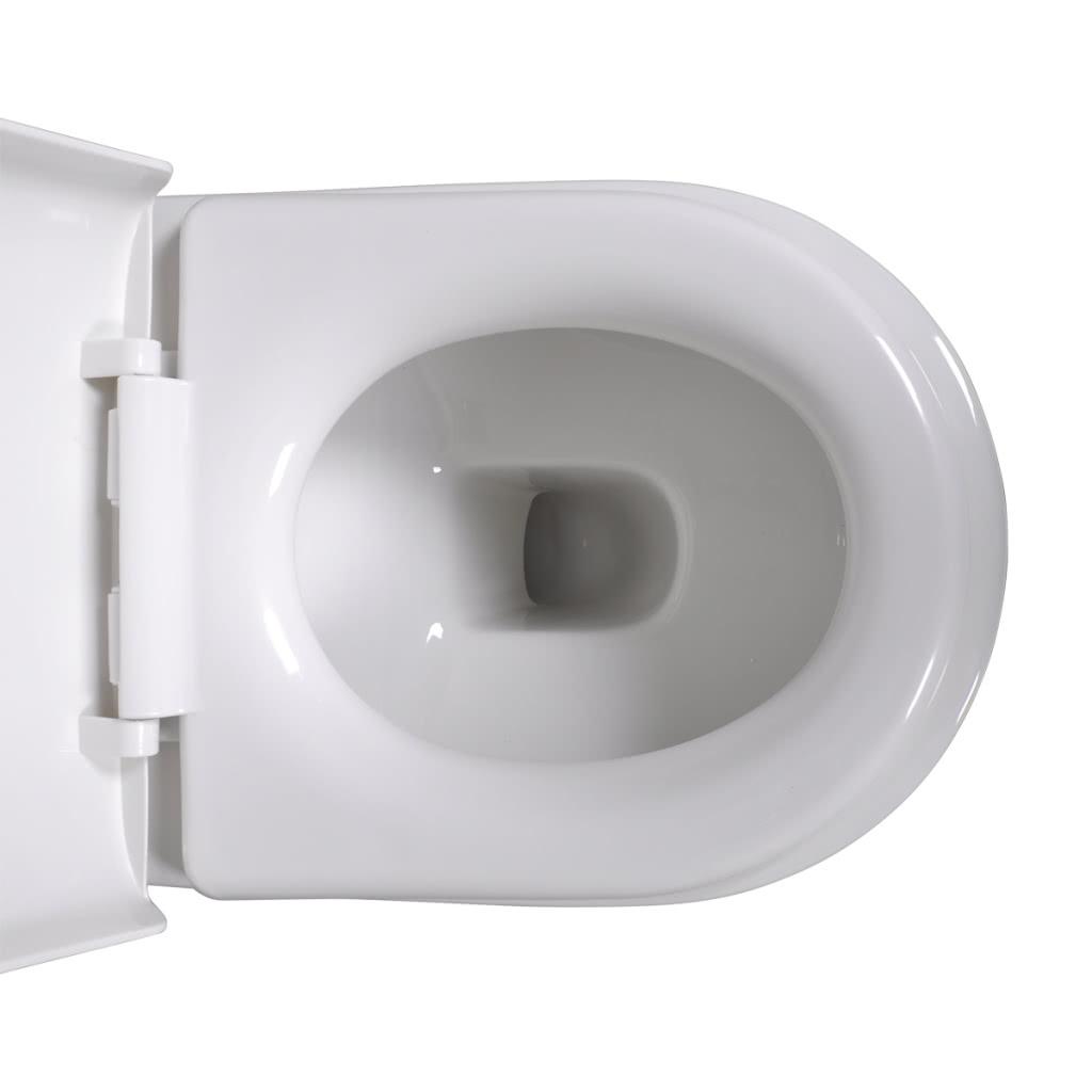 wand h nge wc toilette set edle design wei inkl sp lkasten sales online white tomtop. Black Bedroom Furniture Sets. Home Design Ideas